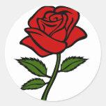 El color de rosa pegatina redonda