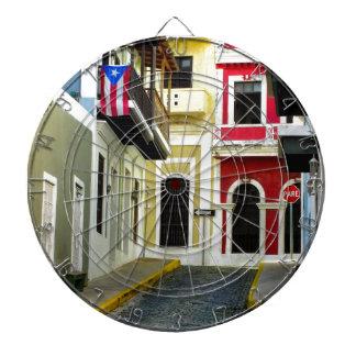 el color de San Juan viejo Puerto Rico Tablero Dardos