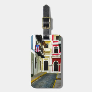 el color de San Juan viejo Puerto Rico Etiquetas Para Maletas
