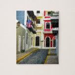 el color de San Juan viejo Puerto Rico Rompecabezas Con Fotos