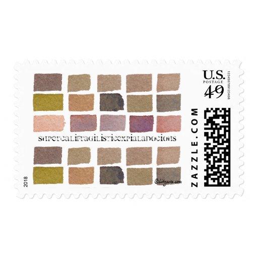 El color de tono de la tierra teja el sello clásic
