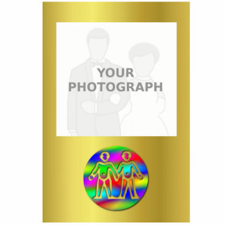El color del arco iris de los géminis hermana el fotoescultura vertical