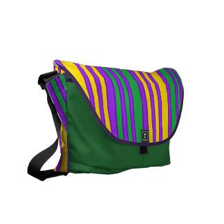 El color del carnaval raya el bolso del diseñador bolsas de mensajeria