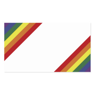 El color del orgullo de la igualdad del arco iris tarjetas de visita