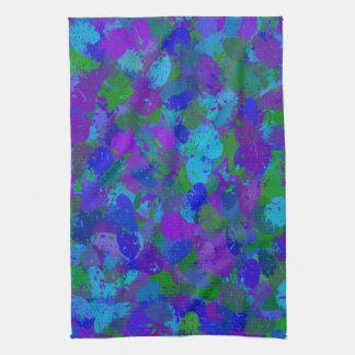 El color del pavo real salpica 4755 toalla de mano