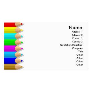 El color dibujó a lápiz la tarjeta del perfil tarjeta de visita