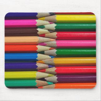 el color dibujó a lápiz textura del fondo de los alfombrilla de ratones