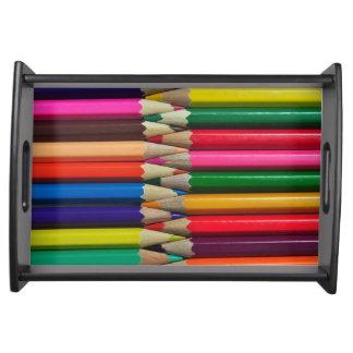 el color dibujó a lápiz textura del fondo de los bandejas
