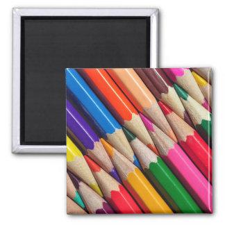 el color dibujó a lápiz textura del fondo de los imán cuadrado