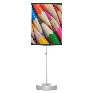el color dibujó a lápiz textura del fondo de los lámpara de mesa