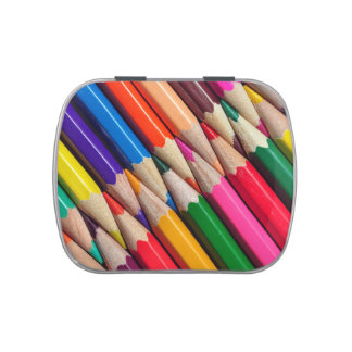 el color dibujó a lápiz textura del fondo de los latas de dulces