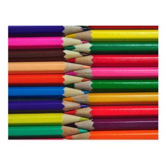 el color dibujó a lápiz textura del fondo de los tarjeta postal