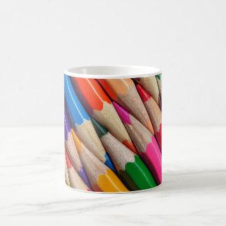 el color dibujó a lápiz textura del fondo de los taza clásica