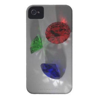 El color empiedra la caja de Blackberry Funda Para iPhone 4 De Case-Mate
