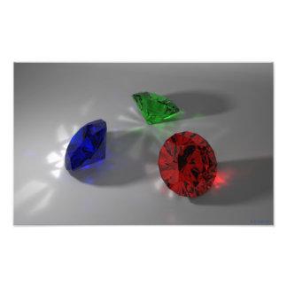 El color empiedra (rojo, verde, azul) la impresión impresiones fotograficas