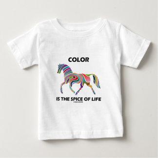 El color es la especia de la vida (el remolino del playera de bebé