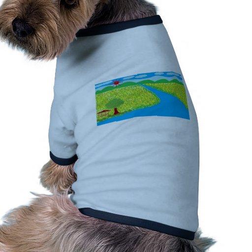 El color feliz camiseta de mascota