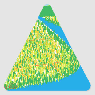 El color feliz pegatina triangular