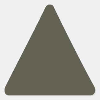 El color francés del gris 9a crea para requisitos pegatina triangular