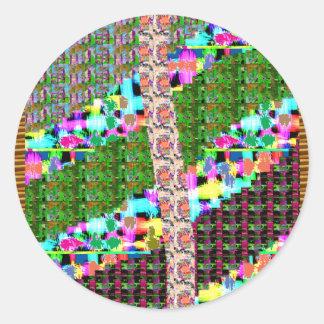 El color INTENSO modela el luv de los REGALOS del Pegatina Redonda