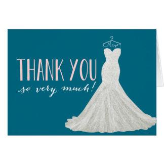 El color moderno el | del vestido de boda el | le tarjeta pequeña