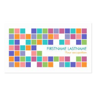 El color moderno teja la tarjeta de visita del per
