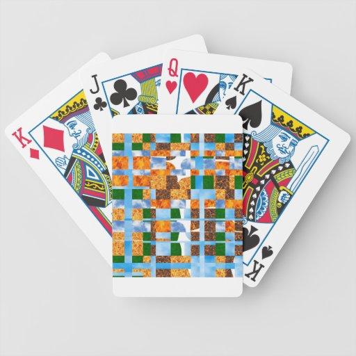 El color múltiple del partido sombrea arte abstrac barajas de cartas