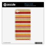 el COLOR NEUTRAL ANARANJADO ROJO stripes69 RAYA EL iPhone 4 Calcomanías