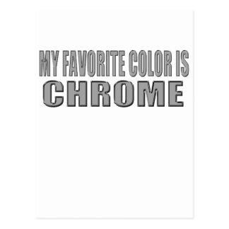 el color preferido es cromo postales