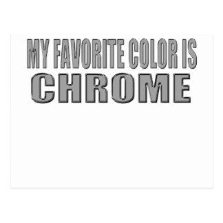 el color preferido es cromo tarjetas postales
