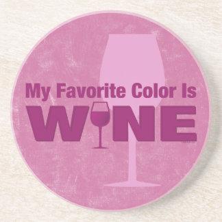 El color preferido es práctico de costa del vino posavasos personalizados