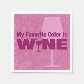 El color preferido es vino servilleta desechable