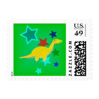 El color protagoniza sellos amarillos del dinosaur