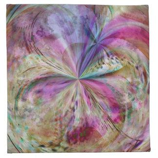 El color que fluye resume las ilustraciones servilleta de papel
