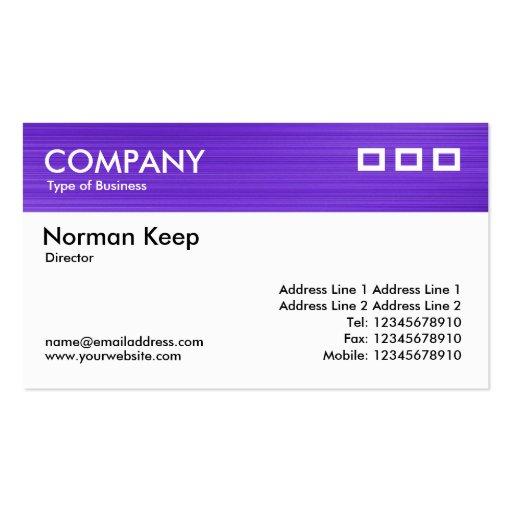 El color texturizó el jefe - violeta cepillada tarjeta de visita