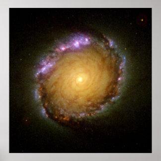 El color vivo de la galaxia espiral impresiones