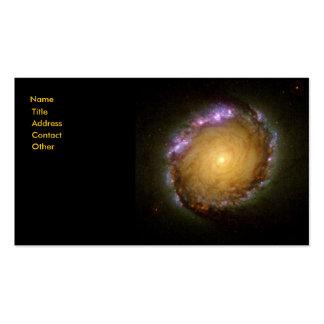 El color vivo de la galaxia espiral tarjeta de visita