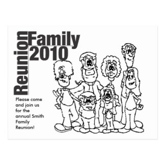 El colorante 2010 de la reunión de familia invita tarjetas postales