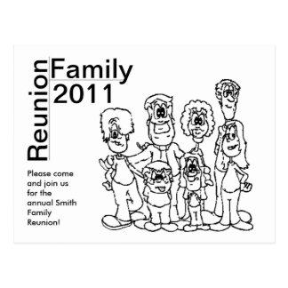 El colorante 2011 de la reunión de familia invita postal