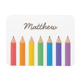 El colorante colorido del arco iris dibujó a lápiz imán flexible
