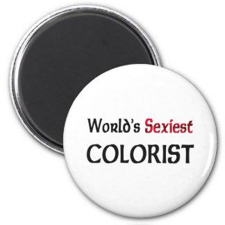 El Colorist más atractivo del mundo Imán Redondo 5 Cm