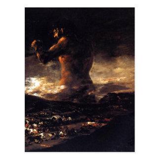 El coloso (1808-1812), Francisco de Goya. Oil on c Postcard