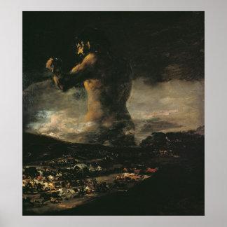 El coloso, c.1808 póster