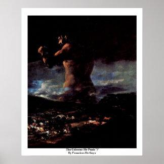 "El coloso (o pánico "")"" por Francisco De Goya Póster"