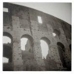 El colosseum en Roma, Italia Azulejo Cuadrado Grande