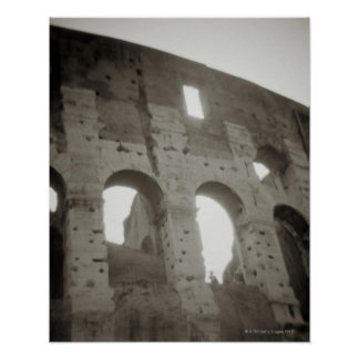 El colosseum en Roma, Italia Póster