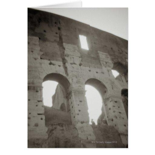 El colosseum en Roma, Italia Tarjeta De Felicitación