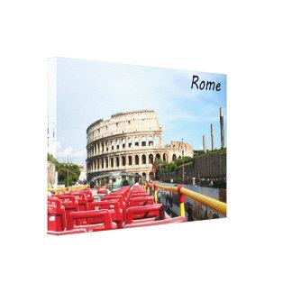 El Colosseum en Roma Lona Estirada Galerías