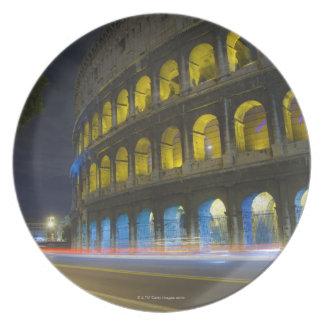 El Colosseum en Roma Plato De Cena