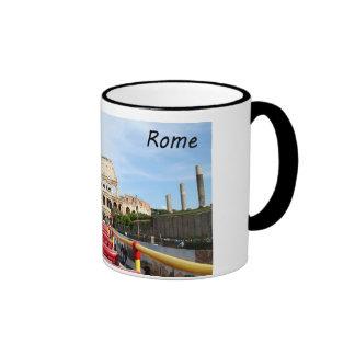 El Colosseum en Roma Taza De Dos Colores